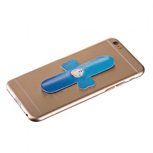 Suport telefon mobil tip sticker smart, prindere adeziv, model Pisicuta Albastra
