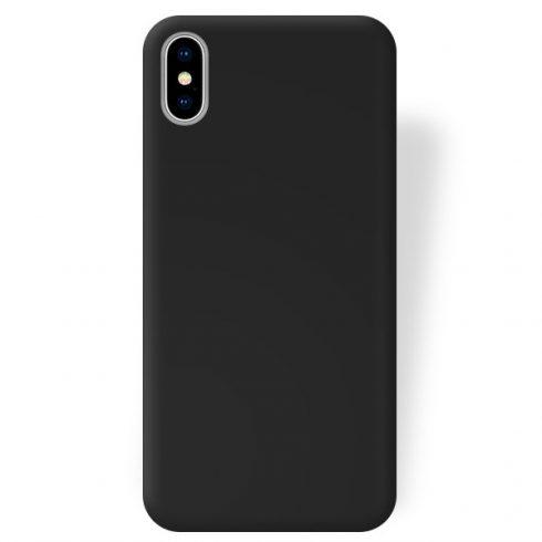 Capac protectie Matt TPU pentru Apple iPhone X/XS, silicon moale, negru