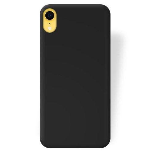 Capac de protectie Matt TPU pentru Apple iPhone XR, silicon moale, negru