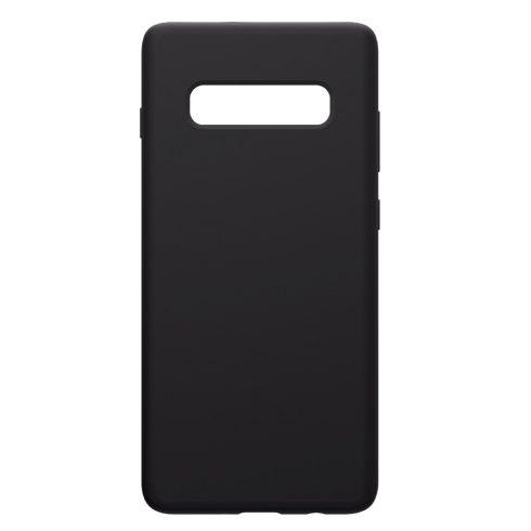Capac de protectie Matt TPU pentru Samsung Galaxy S10 Plus, silicon moale, negru