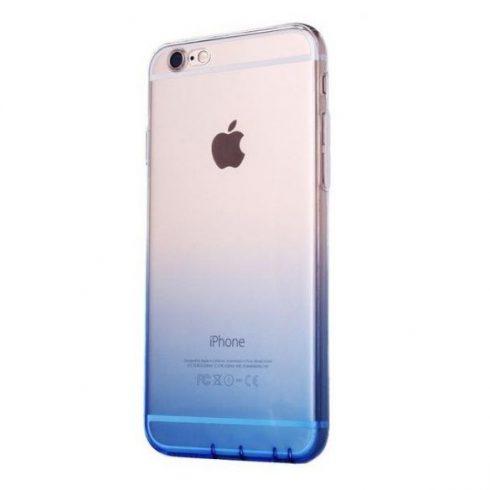 Capac de protectie pentru iPhone 7/8, Gradient TPU ultra-subtire, transparent / albastru