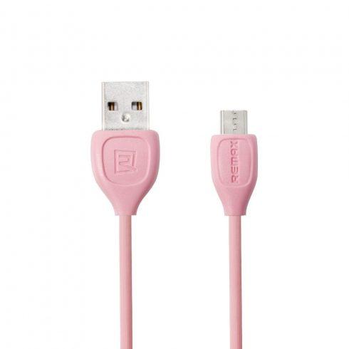 Cablu de date si incarcare MicroUSB Remax Lesu RC-050m, 1 metru, roz