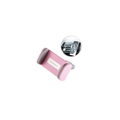 Suport auto universal, prindere la ventilatie, roz