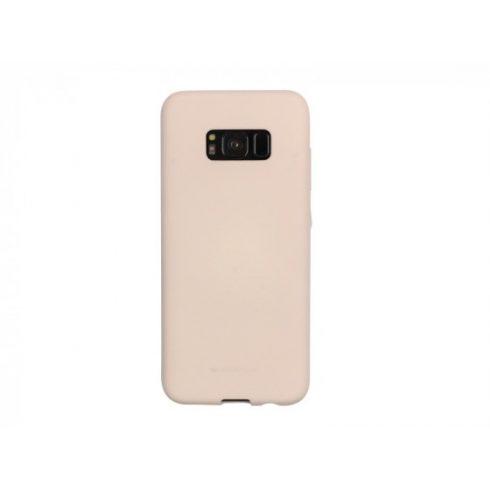 Capac de protectie Mercury Goospery pentru Samsung Galaxy S8 Plus,  jelly case, roz nisipos