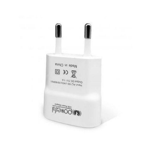 Incarcator casa cu port USB, 1000 mA, alb