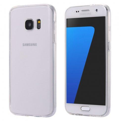Husa de protectie Full TPU 360° (fata+spate) pentru Samsung Galaxy S6 Edge, transparenta